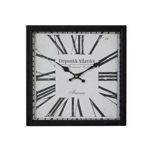 Black Industrial Metal Wall Clock