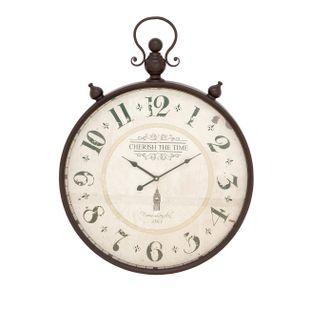 White Vintage Metal Wall Clock
