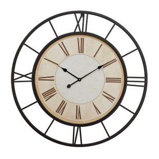 White Industrial Metal Wall Clock