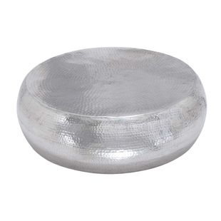 Silver Aluminum Contemporary Coffee Table
