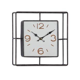 Black Contemporary Metal Wall Clock