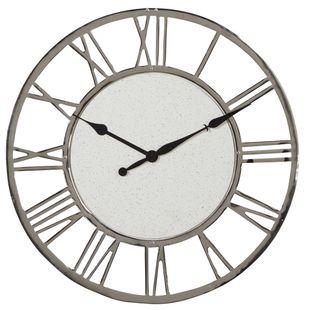 White Contemporary Aluminum Wall Clock