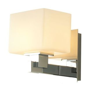 Scatola 1 Light Vanity In Chrome And White Opal Glass