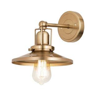English Pub 1-Light Vanity Light In Satin Brass