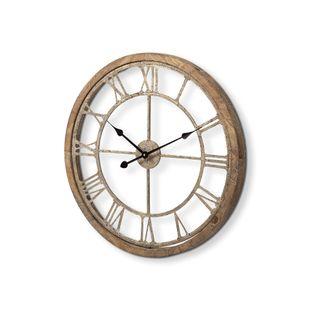 "Mething Light Brown  25"" Medium Farmhouse Wall Clock"