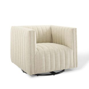 Conjure Tufted Swivel Upholstered Armchair