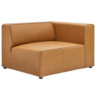Mingle Vegan Leather Right-Arm Chair