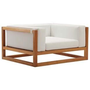Newbury Accent Lounge Outdoor Patio Premium Grade A Teak Wood Armchair