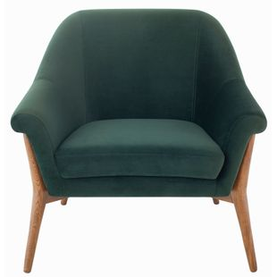 Charlize Occasional Chair With Fabric In Emerald Green