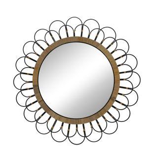 """36"""" Daisy Wall Mirror, Black"""